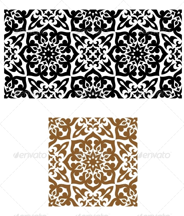 Seamless Ornament Retro Style - Patterns Decorative