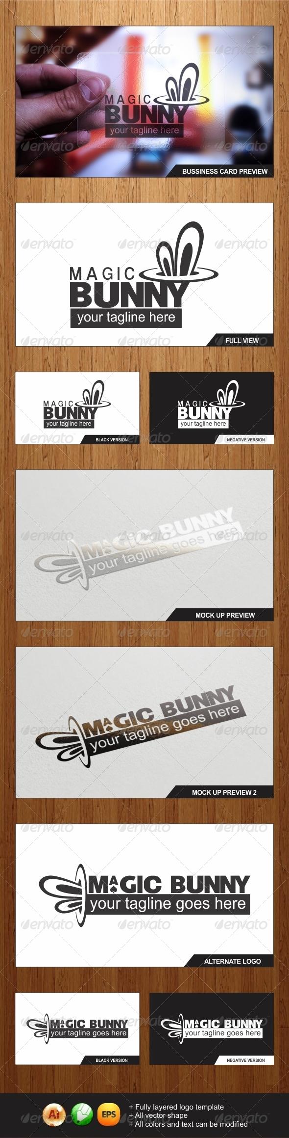 Magic Bunny Logo - Symbols Logo Templates