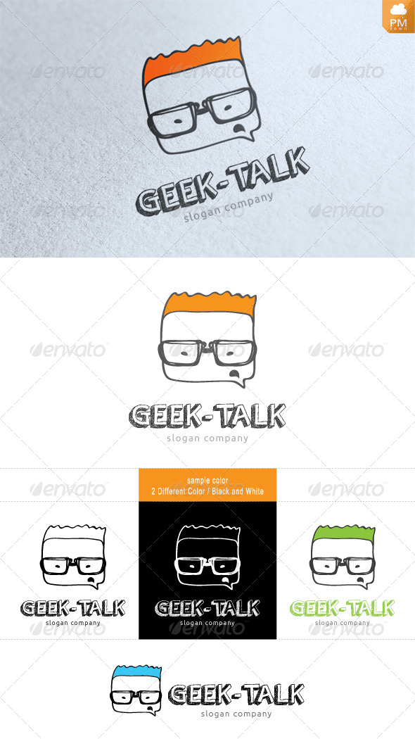 Geek-talk - Humans Logo Templates