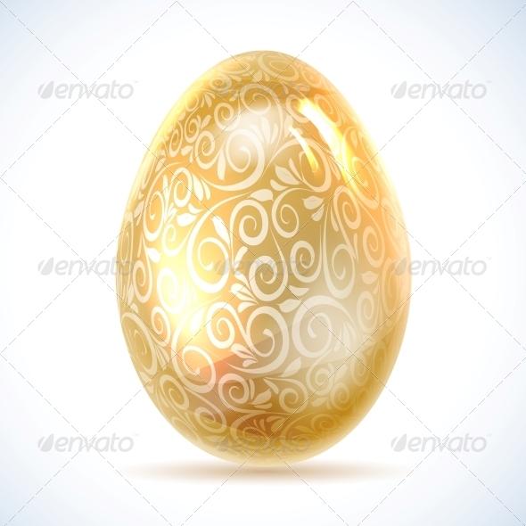 Golden Egg. - Abstract Conceptual