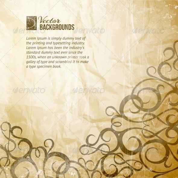 Curves Vintage Background - Abstract Conceptual