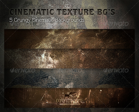 Cinematic Texture Backgrounds - Industrial / Grunge Textures