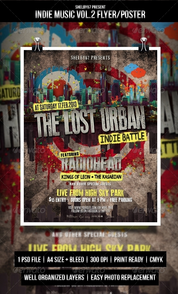Indie Music Flyer / Poster Vol.2 - Events Flyers