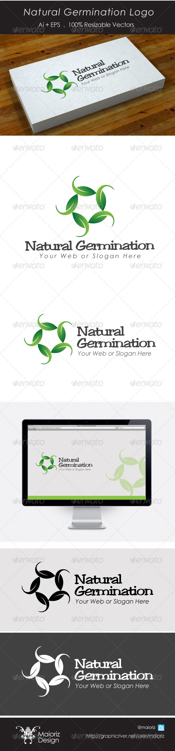 Natural Grow Logo - Nature Logo Templates