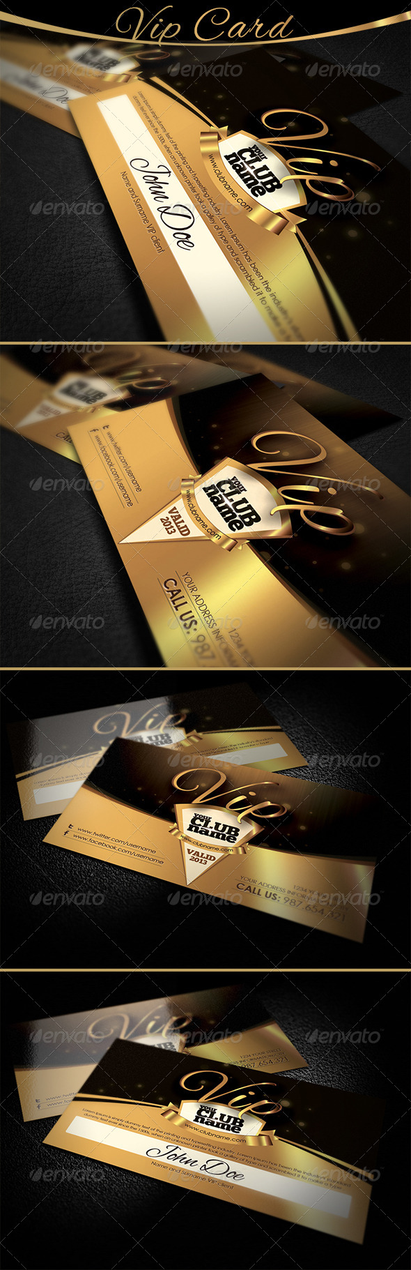 Vip Card - Loyalty Cards Cards & Invites