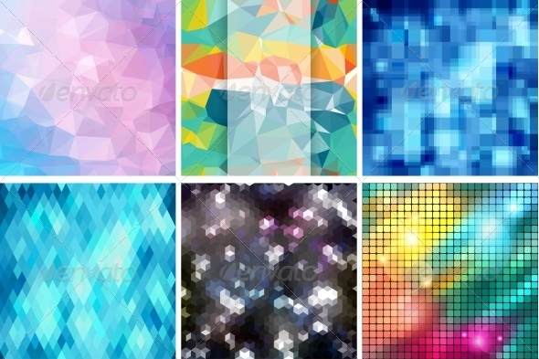 Mosaic Abstract Backgrounds with and Patterns - Backgrounds Decorative