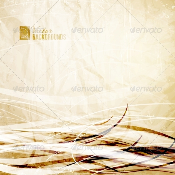 Vintage Wave Elements. - Abstract Conceptual