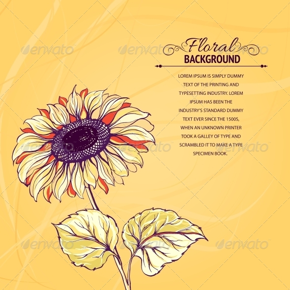Illustration of Sunflower. - Flowers & Plants Nature