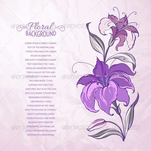 Abstract Background with Blooming Lilies - Flowers & Plants Nature