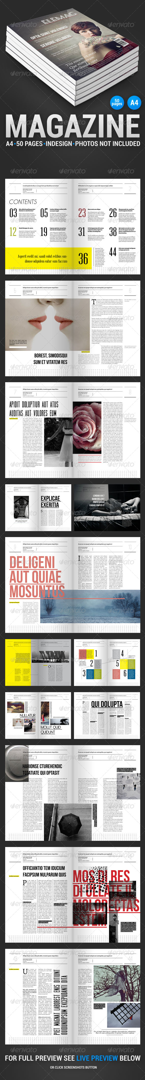 EleMag 50 Pages Magazine - Magazines Print Templates