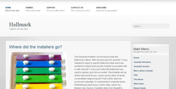 Hallmark - Blog / Magazine Joomla
