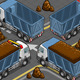 Isometric Containers Trucks in Rear View - GraphicRiver Item for Sale