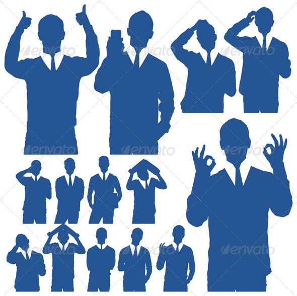 Business Man Silhouettes - People Characters