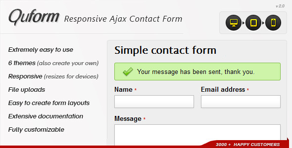 Quform  Responsive Ajax Contact Form By Themecatcher  Codecanyon