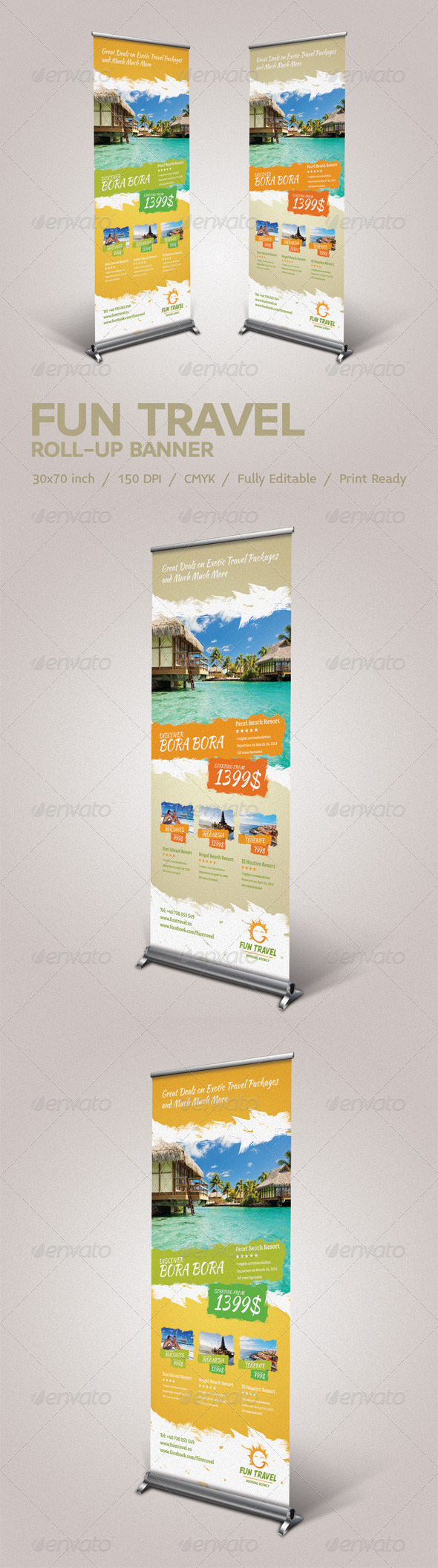 Fun Travel Roll-Up Banner - Signage Print Templates
