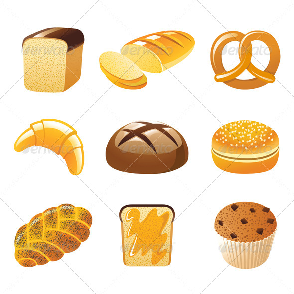 Bread Icons - Food Objects