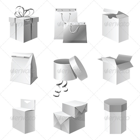 Package Icons - Objects Vectors