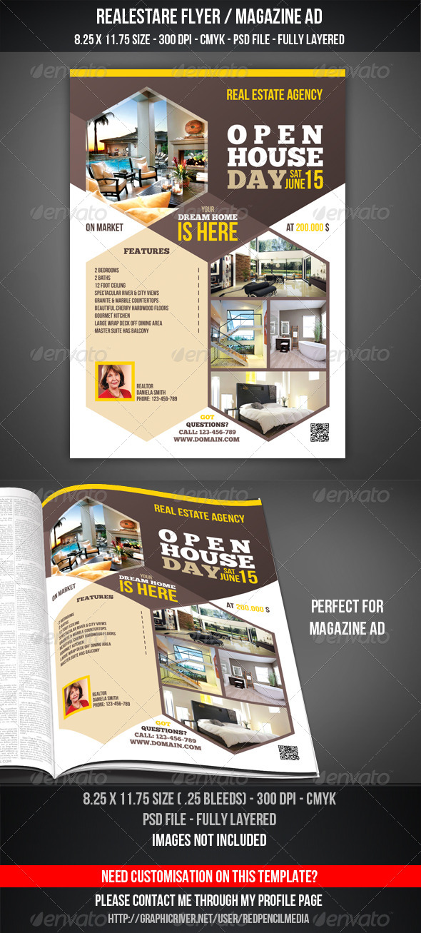 Real Estate - Open House Flyer / Magazine AD by REDPENCILMEDIA ...
