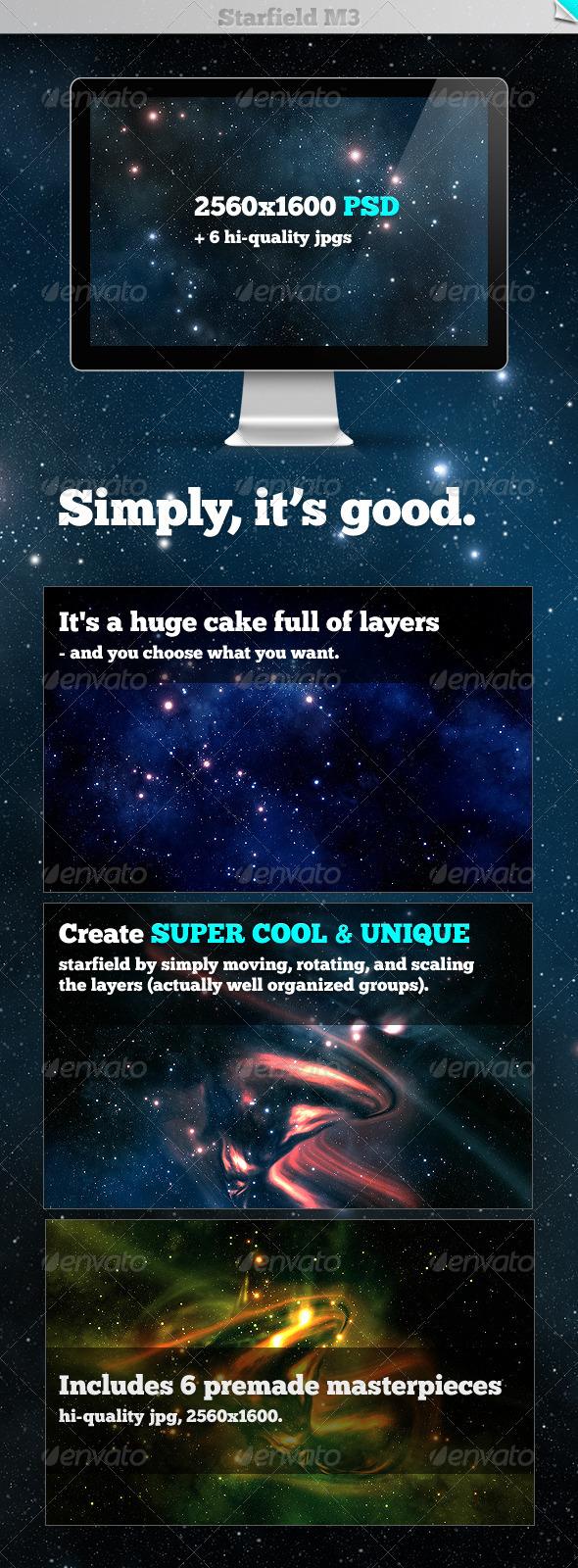 Starfield M3 - Tech / Futuristic Backgrounds