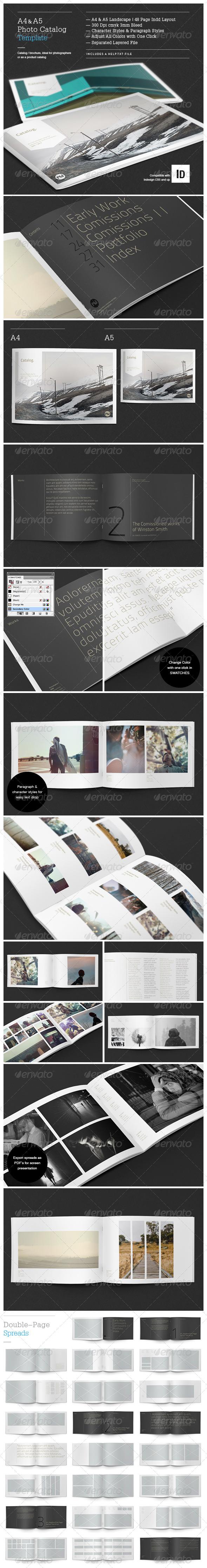 Minimal Photo Catalog Template - Brochures Print Templates