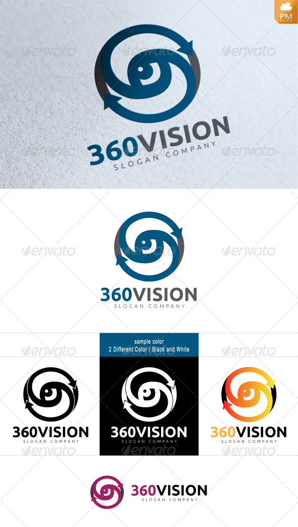 360VISION - Numbers Logo Templates