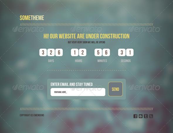 SomeTheme - Under Construction Page - 404 Pages Web Elements