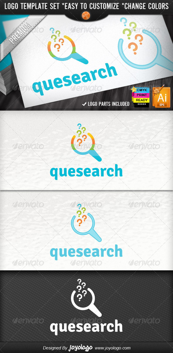 SEO Specialist Pixel Question Search Logo Template - Symbols Logo Templates