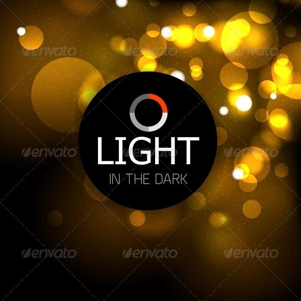 Shiny Light Abstract Design Template - Media Technology