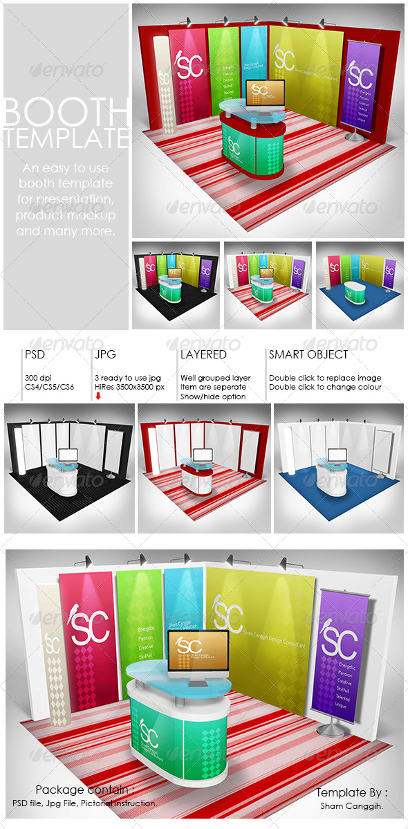 Booth Template Part 1 - Miscellaneous Product Mock-Ups