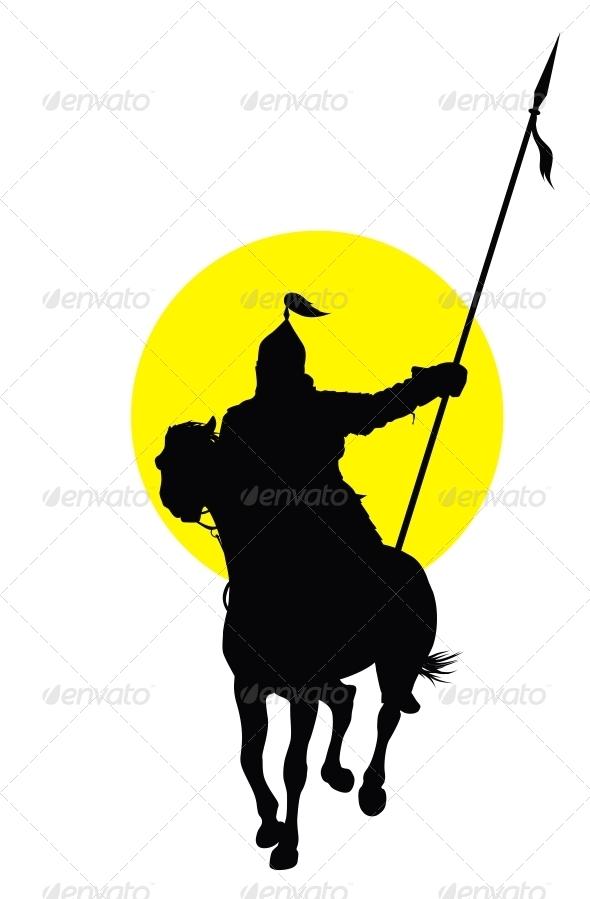Oriental Horseman - People Characters
