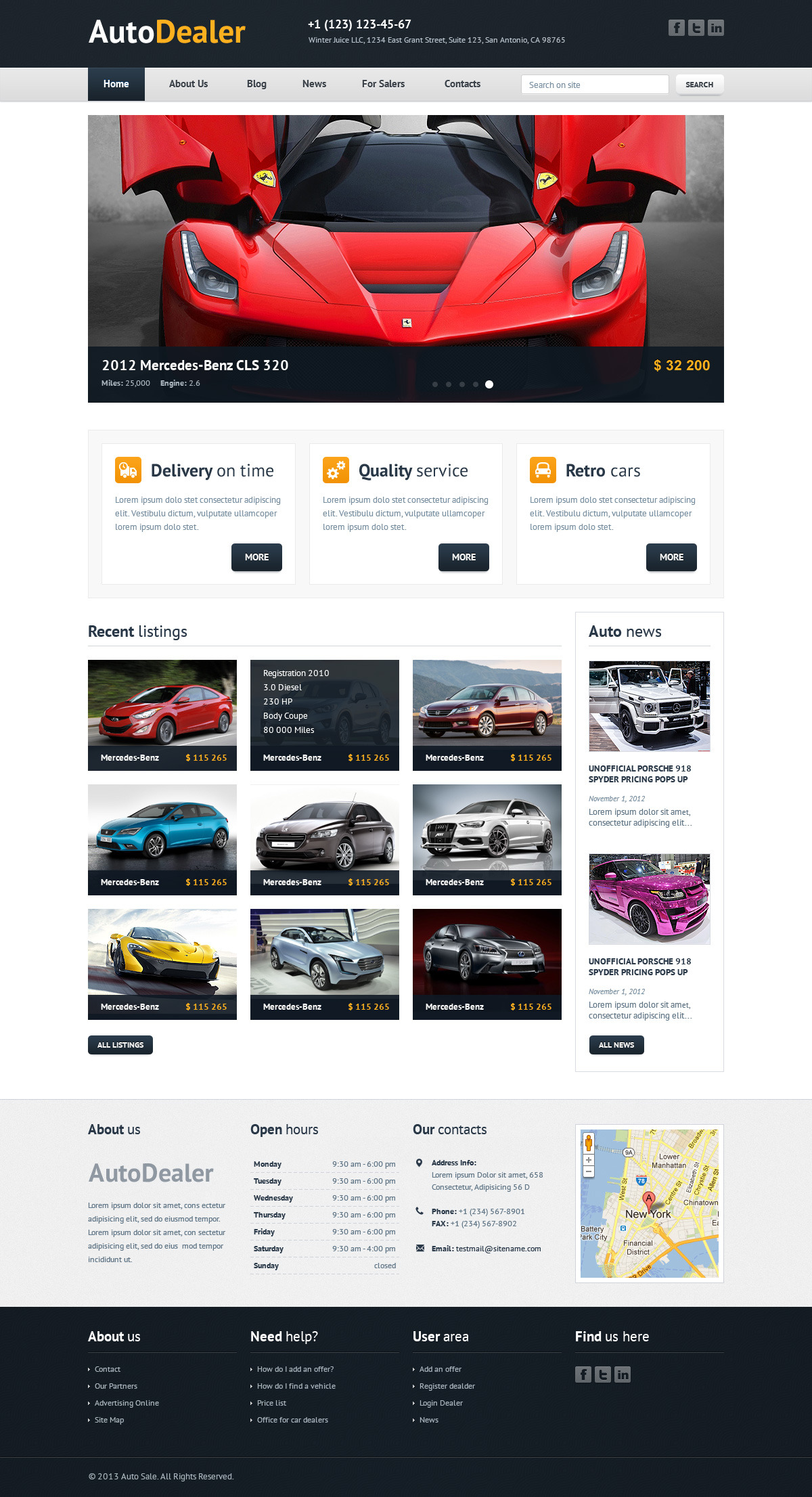 Auto Dealer Car Dealer Psd Template By Winterjuice Themeforest