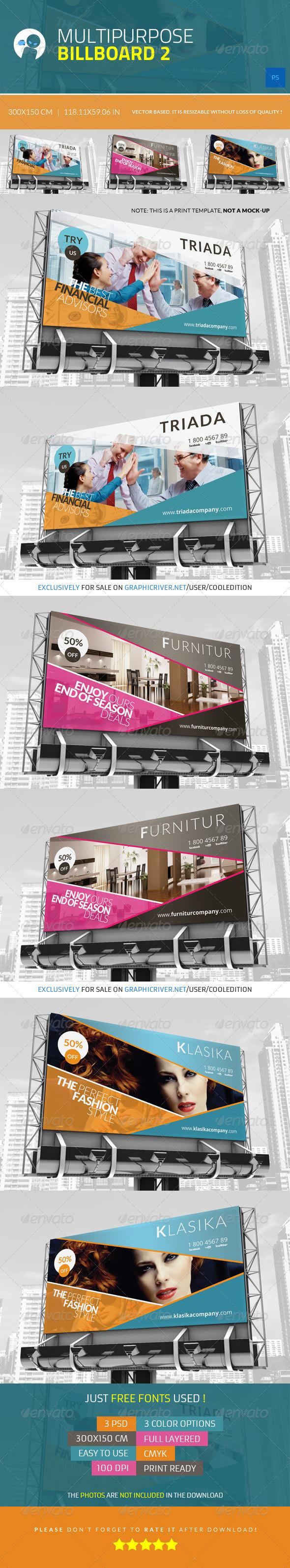 Multipurpose Billboard 2 - Signage Print Templates