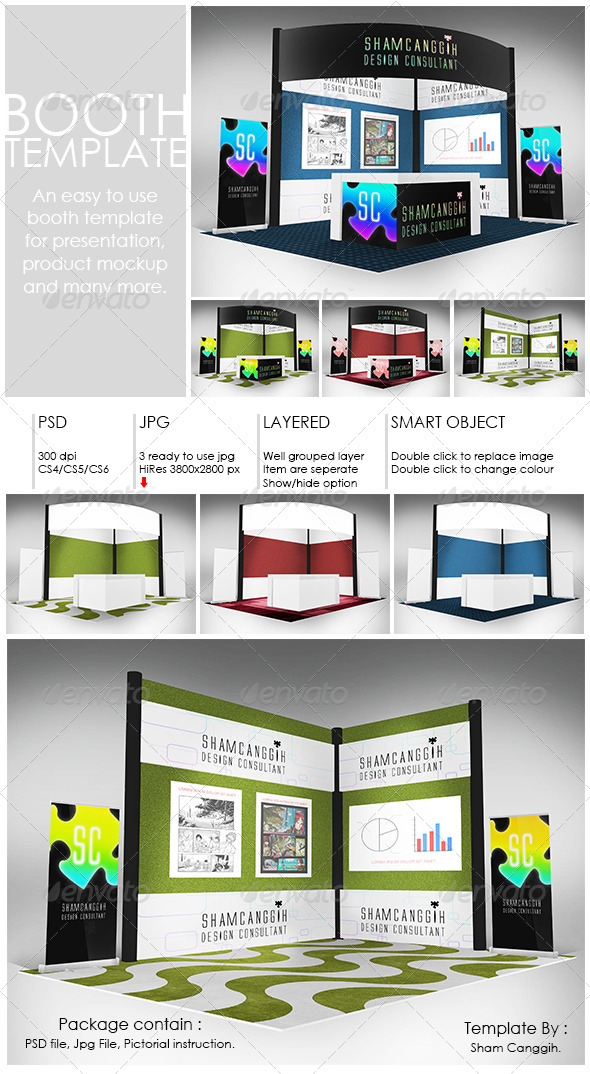 Booth Template Part 2 - Print Product Mock-Ups
