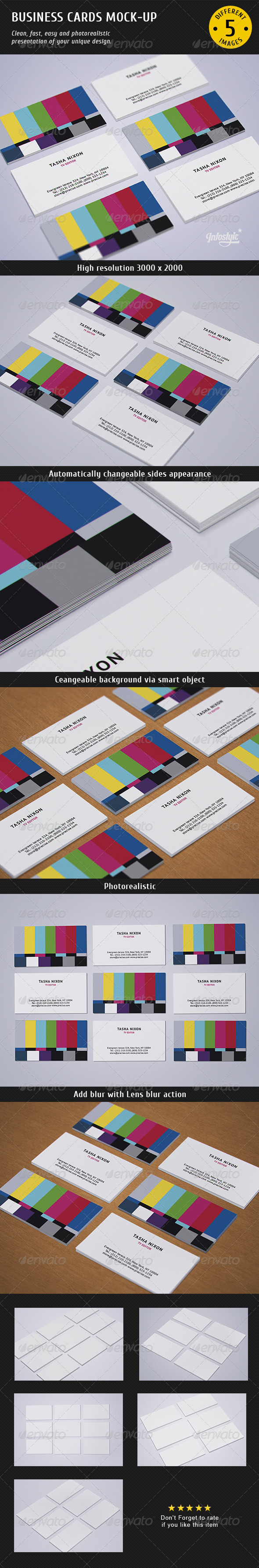 Business Cards Studio Mock-up 2 - Print Product Mock-Ups