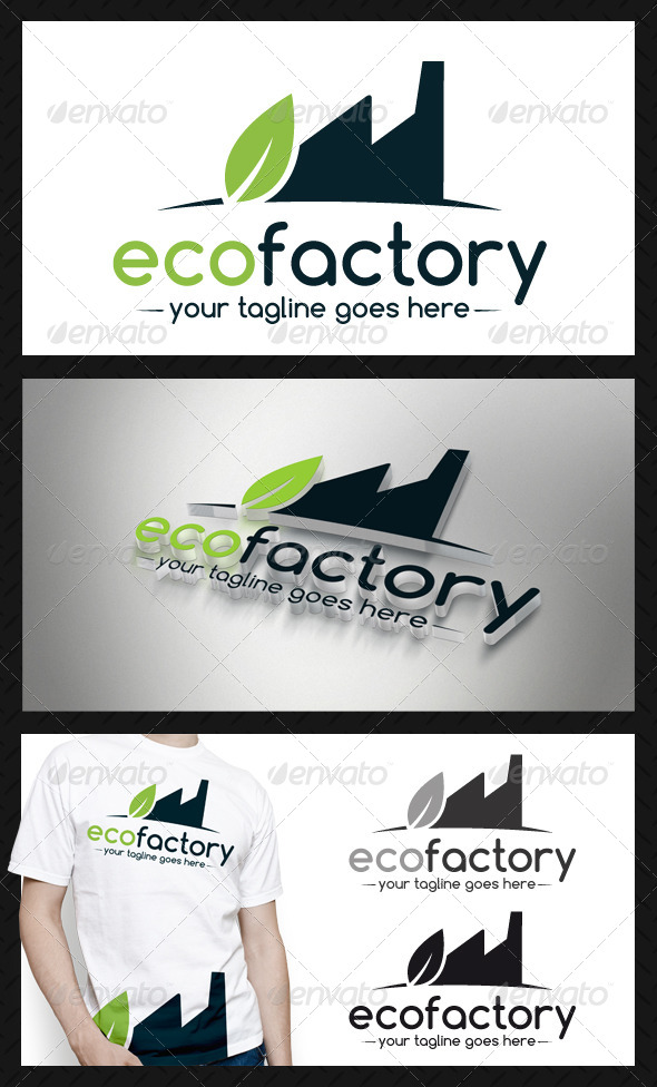 Eco Factory Logo Template - Buildings Logo Templates