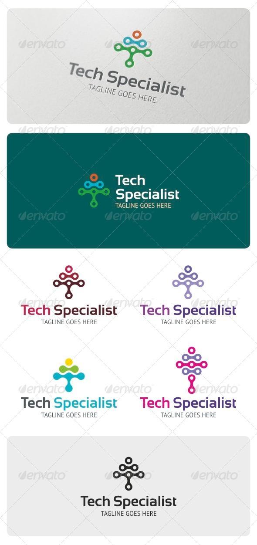 Tech Specialist Logo Template - Vector Abstract