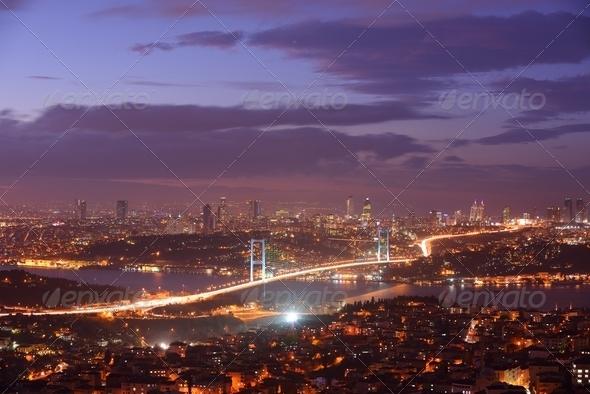 Istanbul Turkey Bosporus Bridge - Stock Photo - Images