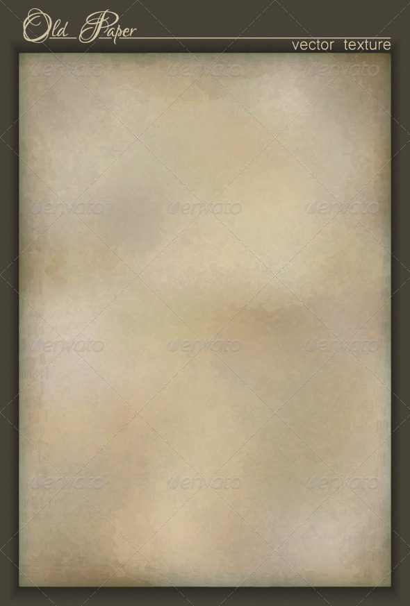 Vintage Old Paper Textured Background - Abstract Conceptual