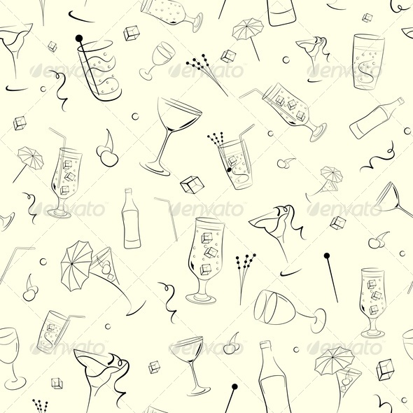 Seamless Background on Alcohol - Backgrounds Decorative