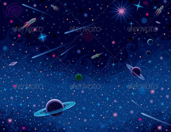 Horizontal Cosmic Background - Backgrounds Decorative