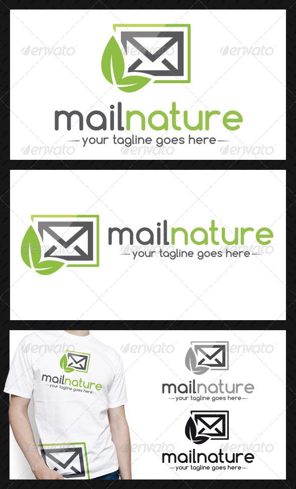 Mail Nature Logo Template - Nature Logo Templates