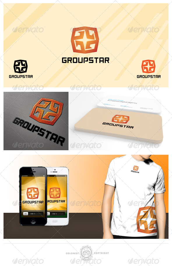 Group Star logo - Symbols Logo Templates