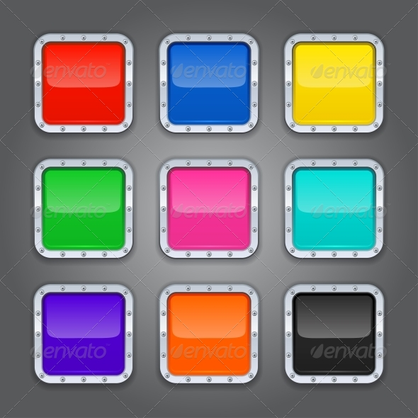 Set of Backgrounds for App Icons - Web Technology