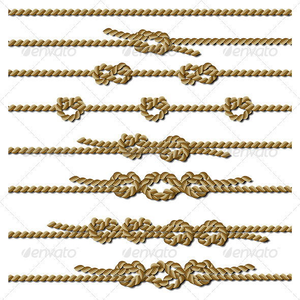 Set of Rope Knots - Miscellaneous Vectors