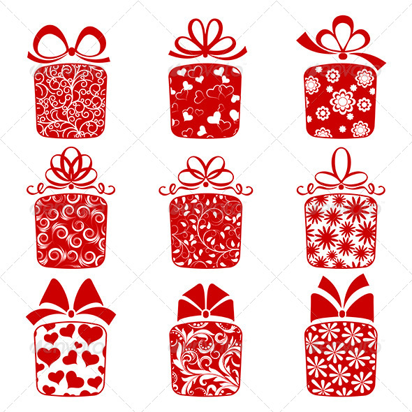 Collection of Gift Boxes  - Birthdays Seasons/Holidays