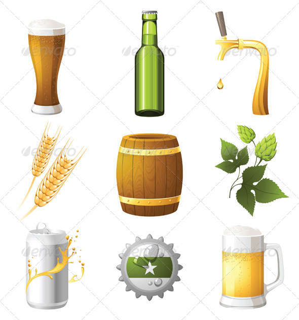 Beer Icons - Objects Vectors