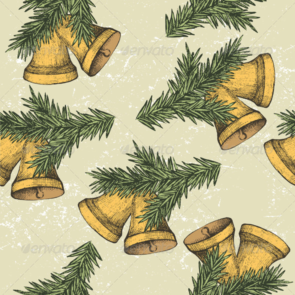 Seamless Ornament with Handbells - Patterns Decorative