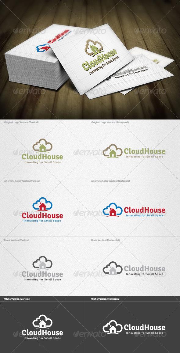 Cloud House Logo - Symbols Logo Templates