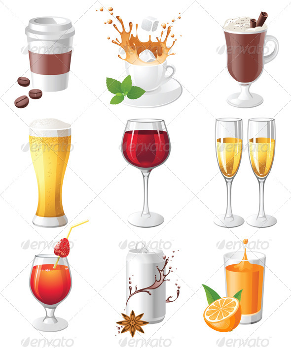 Drinks Icons - Objects Vectors