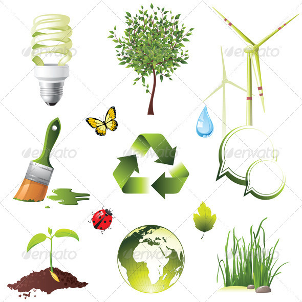 Ecology Icons - Nature Conceptual